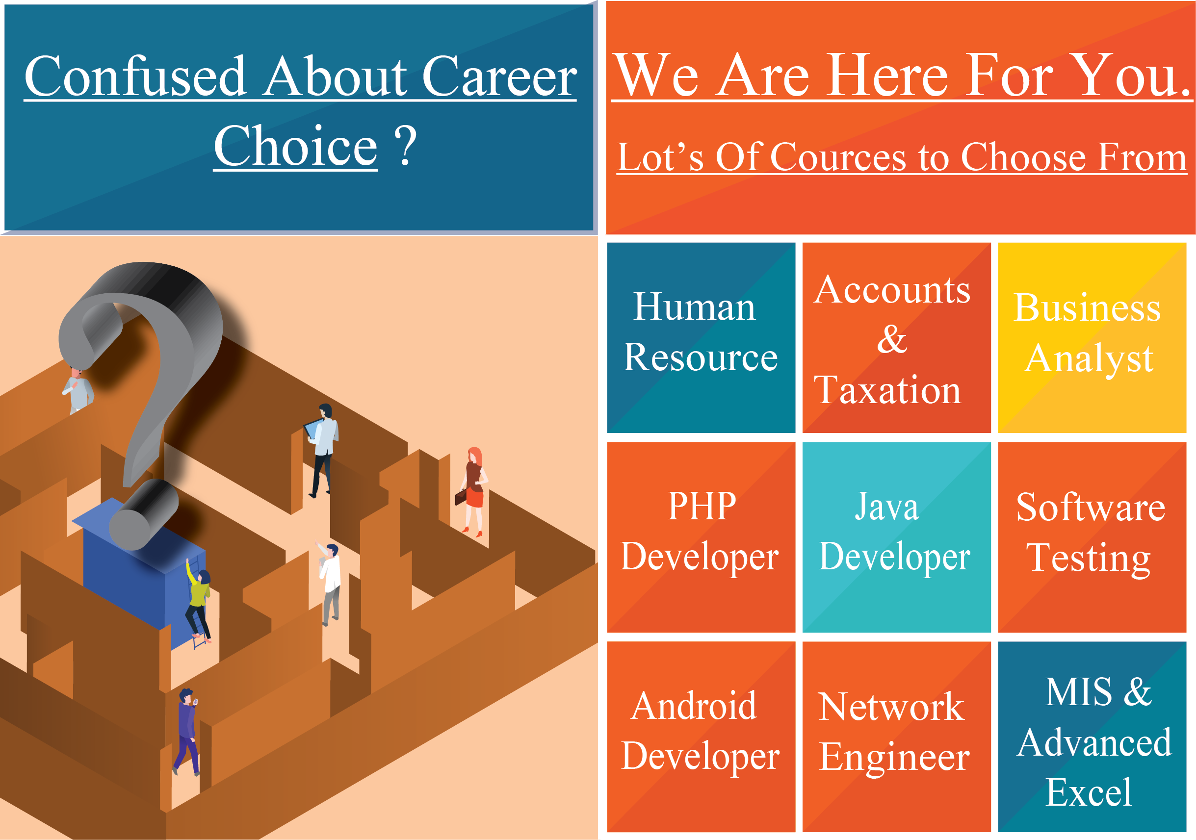 Confused about career choices-choose best courses